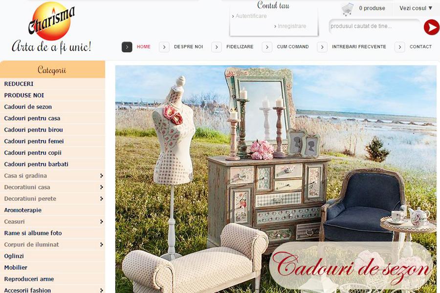 Magazin online Charisma Cadouri Decoratiuni