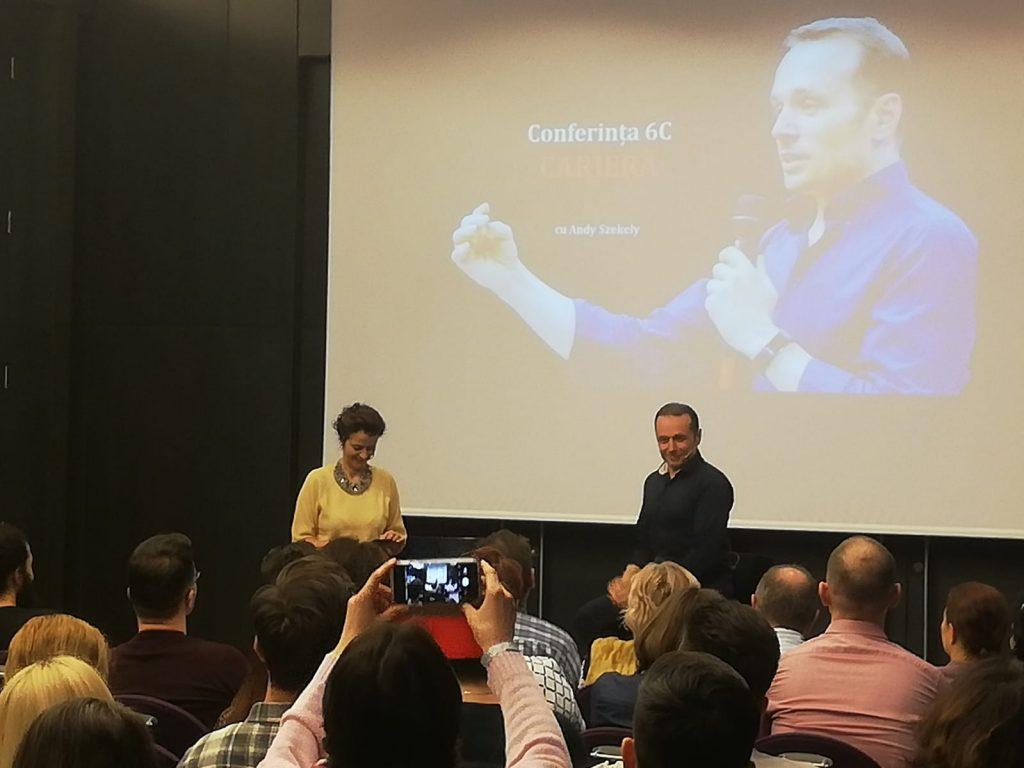 Discurs Andreea Roșca la conferinta 6C - Cariera. Sfaturi pentru a progresa in cariera